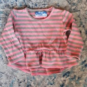 Long sleeve Girl Shirt striped pink